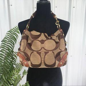 Coach Handbag Shoulder Bag Brown
